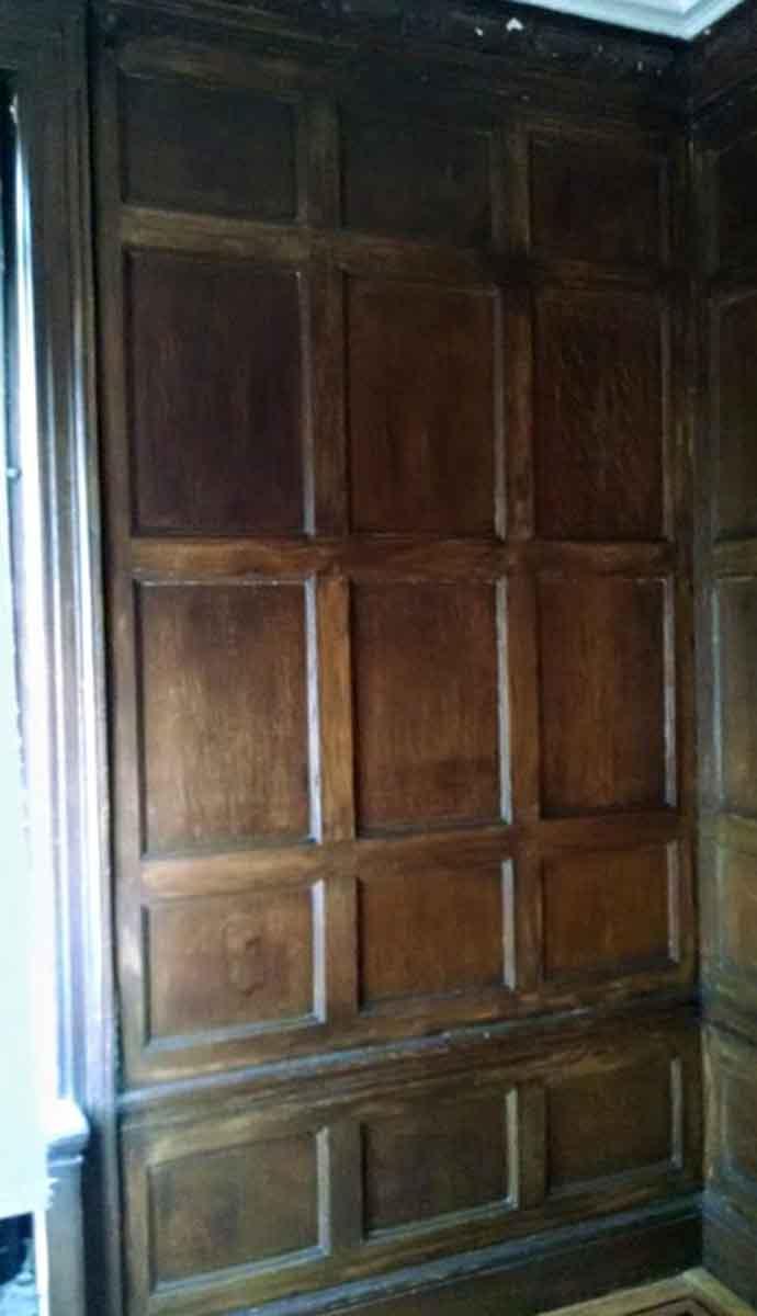 Oak Paneled Room: Recessed Panel Dark Oak Paneled Room From Riverside Drive