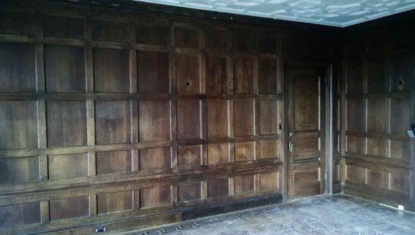 Paneled Rooms & Wainscoting - Recessed Panel Dark Oak Paneled Room from Riverside Drive Estate