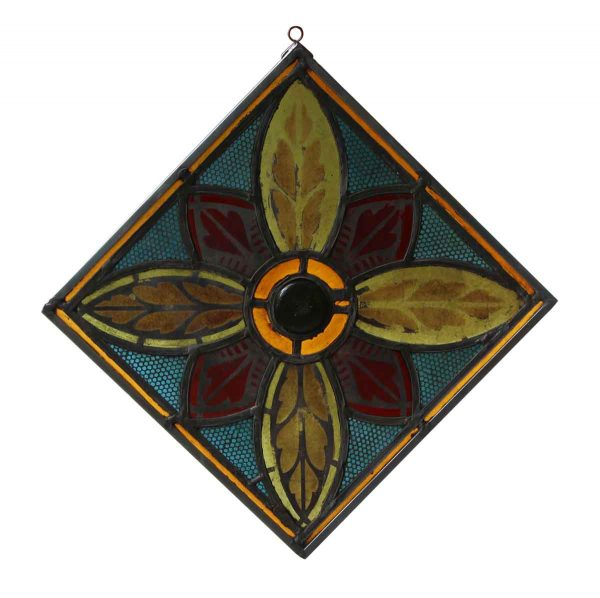 Stained Glass - Stained Glass Panel with Metal Frame