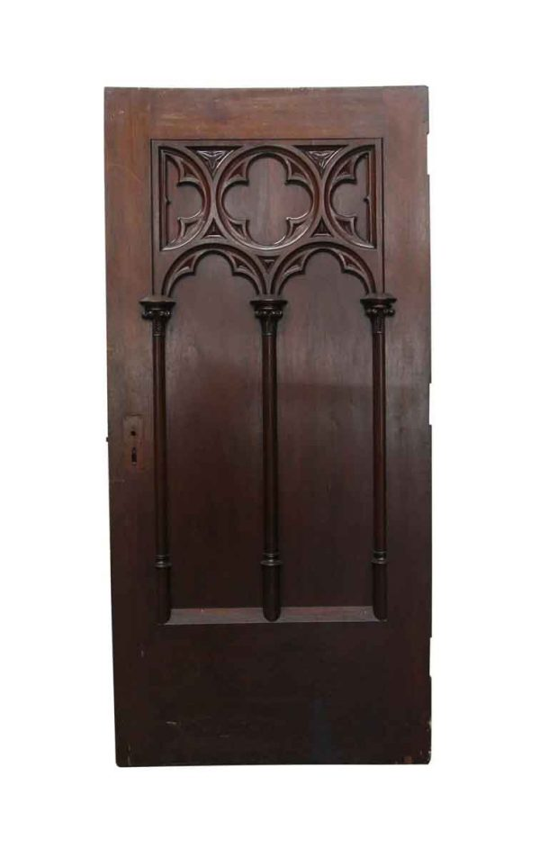 Standard Doors - Gothic Style Bowed Solid Wood Carved Door