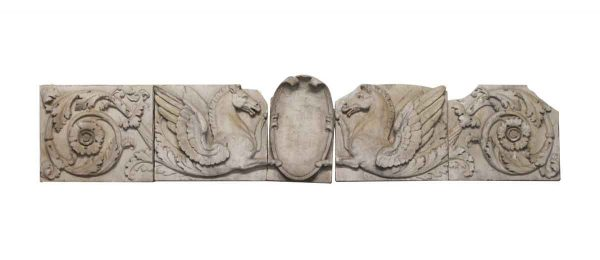 Stone & Terra Cotta - Floral Pegasus Stone Frieze Set from New York City Skyline