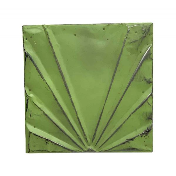Tin Panels - Bright Green Art Deco Tin Panel