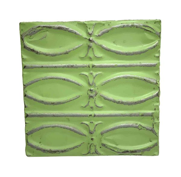 Tin Panels - Bright Green Fish Pattern Tin Panel