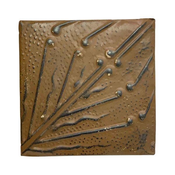 Tin Panels - Brown Diagonal Vines Tin Panel