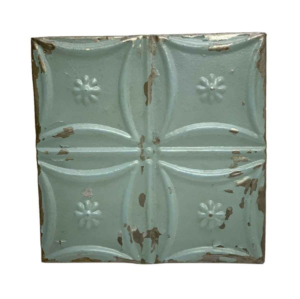 Tin Panels - Composed Blue Snowflake Tin Panel