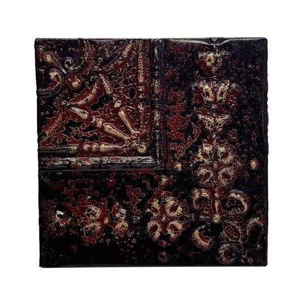 Tin Panels - Dark Red Corner Tin Panel