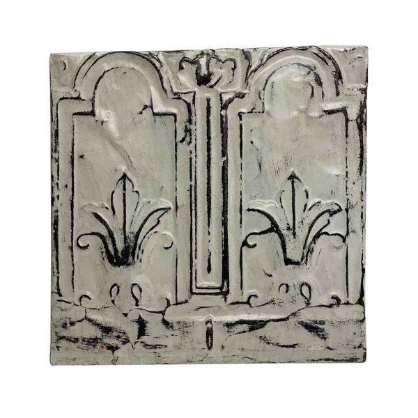 Tin Panels - Off White 2 Fold Tin Panel