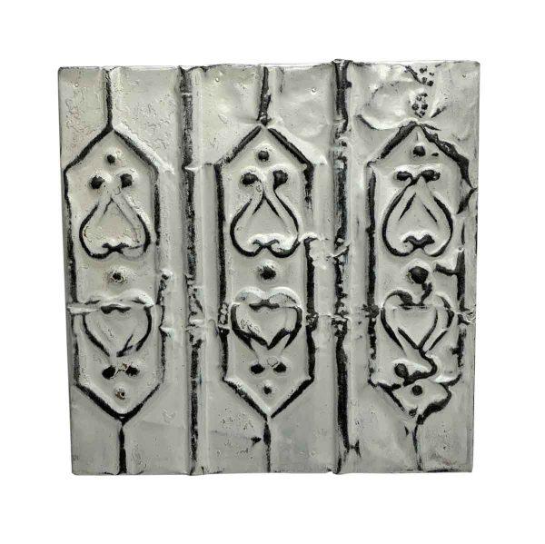 Tin Panels - Off White 3 Fold Tin Panel