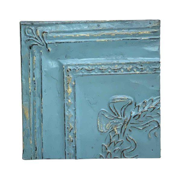 Tin Panels - Open Sea Blue Corner Tin Panel