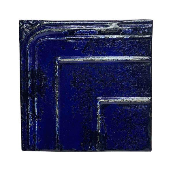 Tin Panels - Royal Blue Shellac Corner Tin Panel