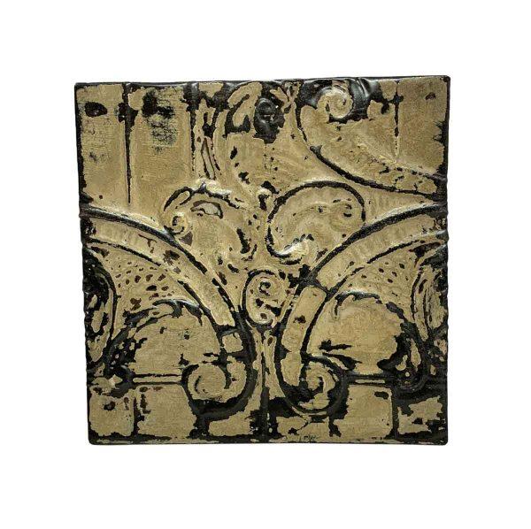 Tin Panels - Tan & Black Tin Asymmetrical Pattern Panel