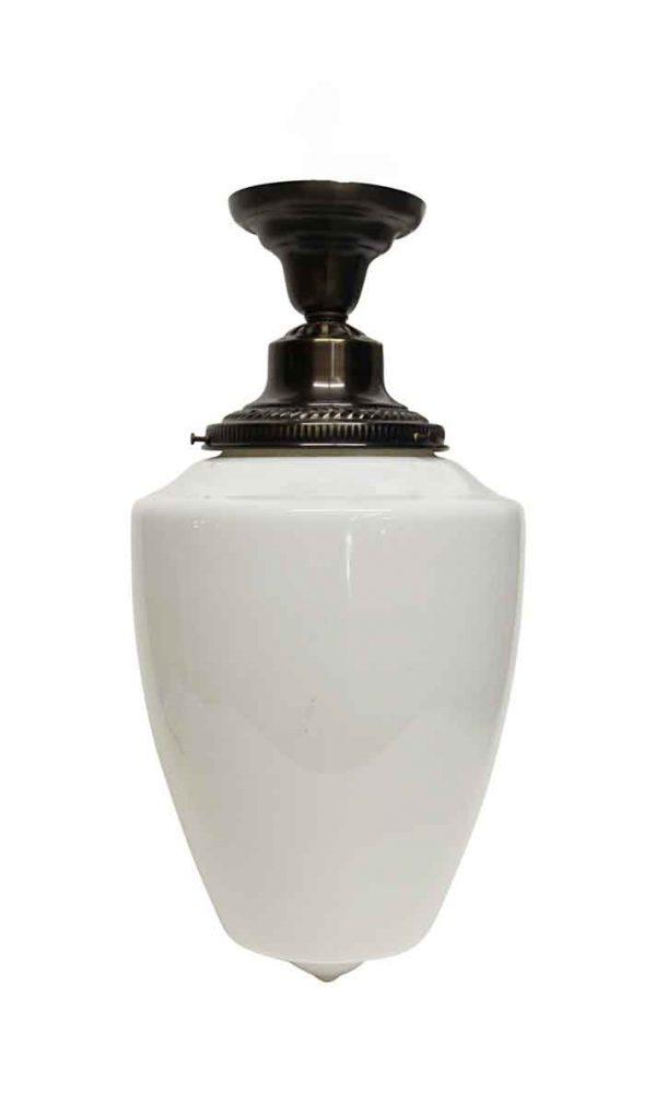 Waldorf Astoria - Opaline White Glass Pendant Light from The Waldorf Astoria Hotel