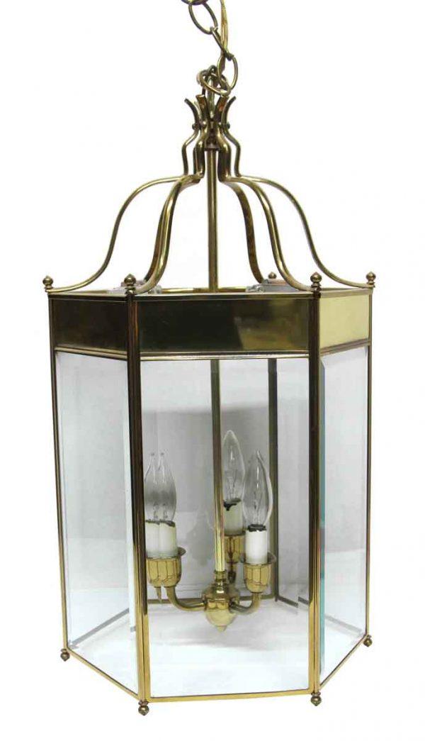 Waldorf Astoria - Waldorf Astoria Large Hexagon Brass Lantern