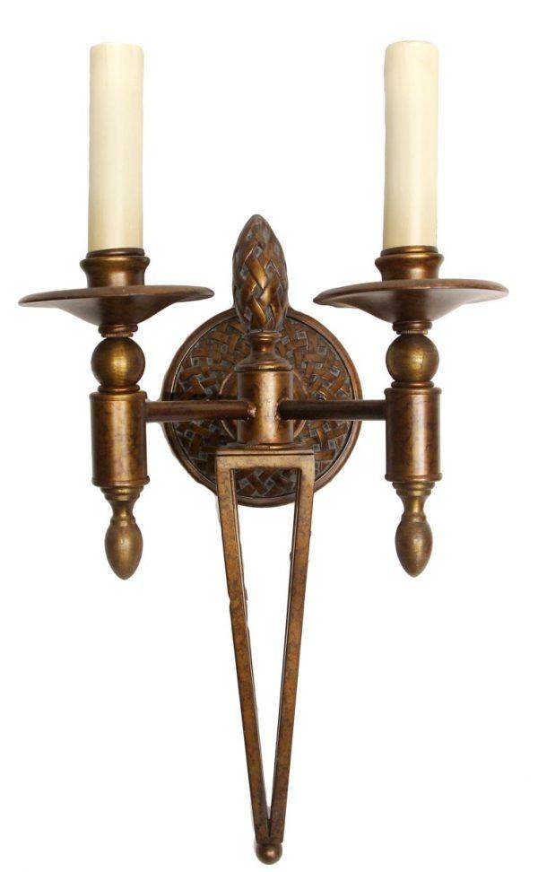 Waldorf Astoria - Waldorf Astoria Large Wrought Iron with Bronze Finish Sconce