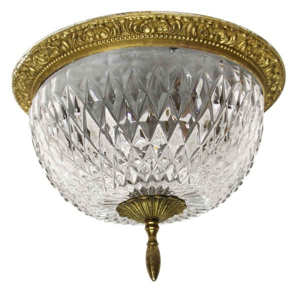 Waldorf Astoria - Waldorf Astoria Towers Cut Crystal Flush Mount Fixture