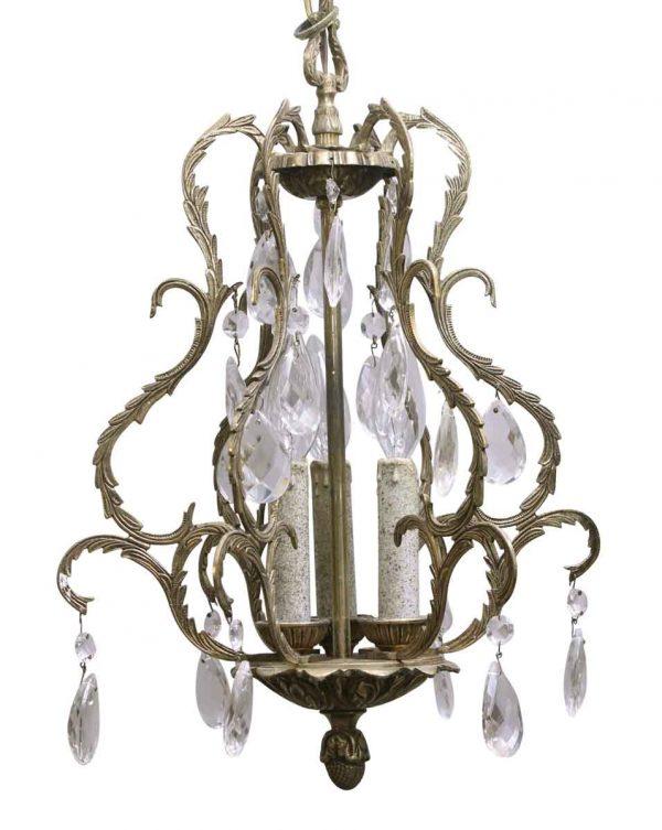 Waldorf Astoria - Waldorf Petite Spanish Vestibule Brass & Crystal Light