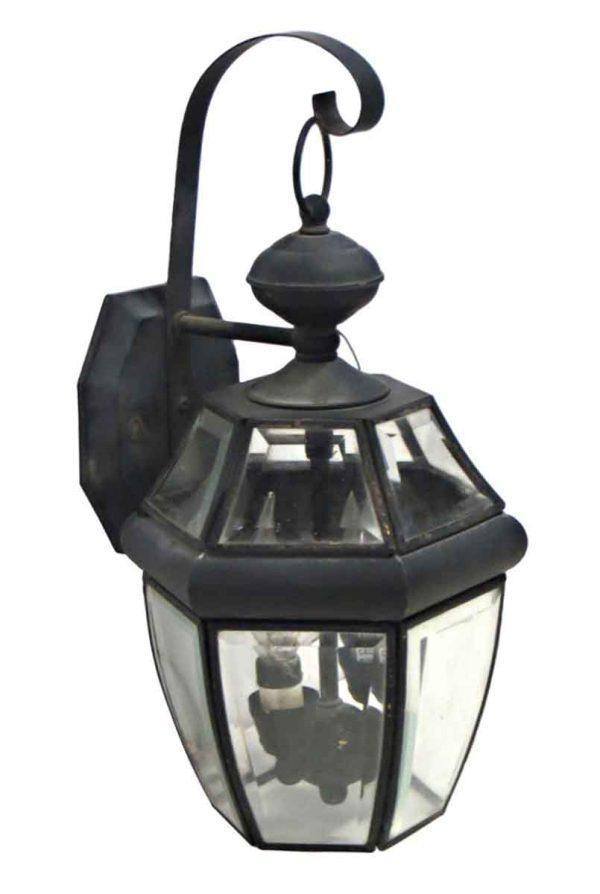 Wall & Ceiling Lanterns - Bronze Lantern Sconce with Black Powder Coat Finish