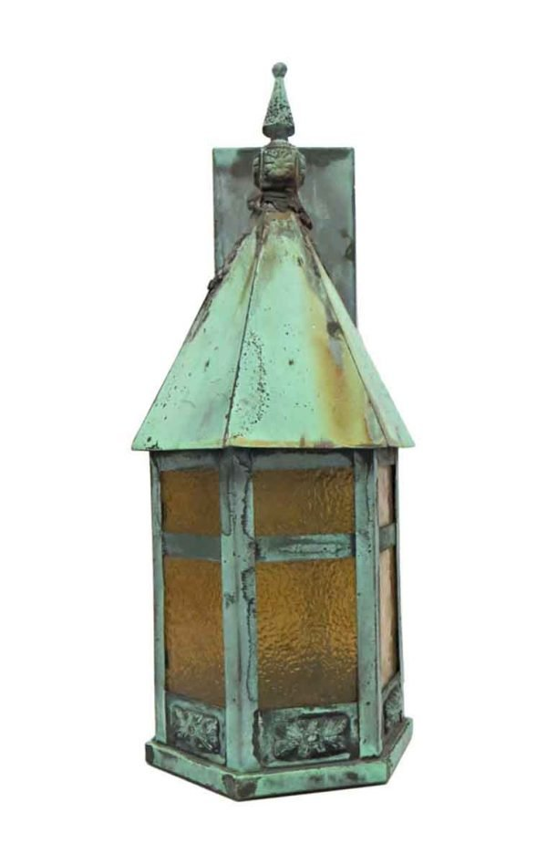 Wall & Ceiling Lanterns - Old Copper Lantern Exterior Sconce