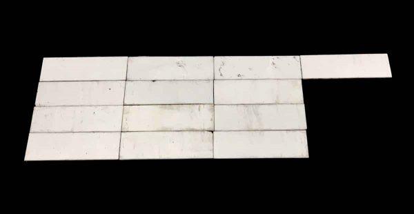 Wall Tiles - 2.4 Square Feet White 9 x 3 Thin Glass Tile Set