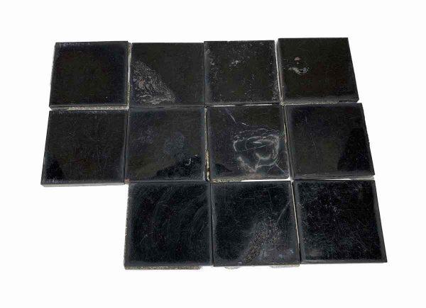 Wall Tiles - 4.125 in. Square Black Tile Set