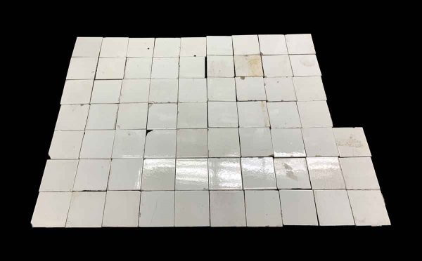 Wall Tiles - Chipped White 4.25 in. Square Subway Tile Lot