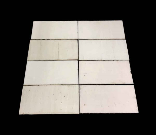 Wall Tiles - Square Foot of Thin White Glass Tiles