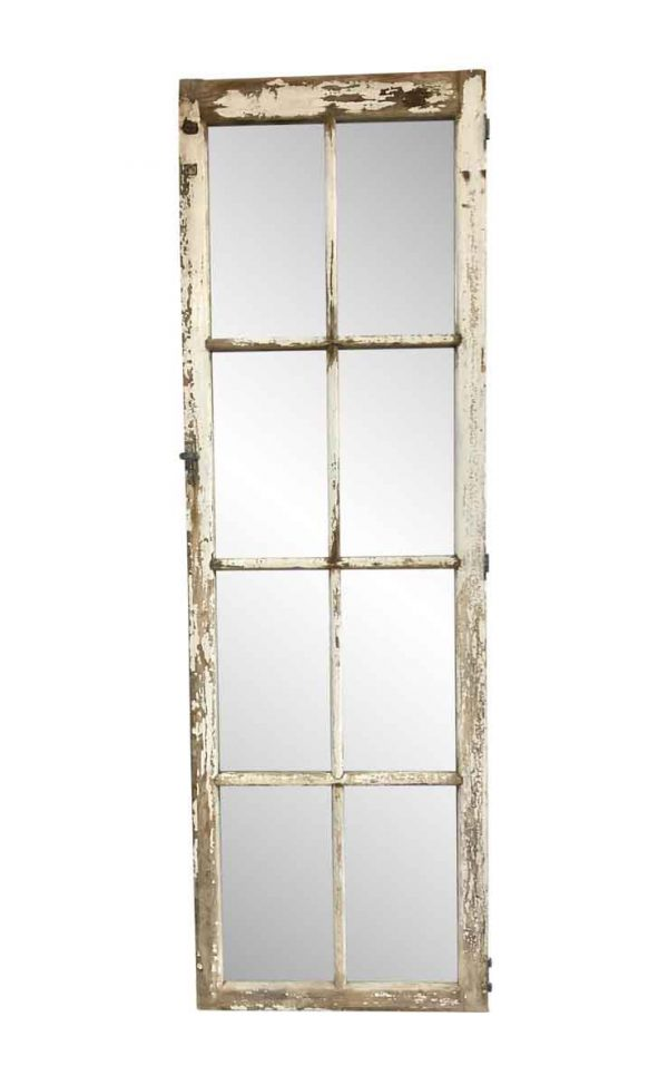Wood Molding Mirrors - 7 ft Tall Salvaged Window Framed Mirror