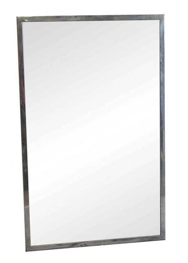 Bathroom - 1950s Nickel Framed Bathroom Mirror