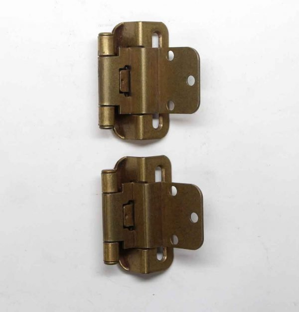 Cabinet & Furniture Hinges - Pair of 3 in. Partial Wrap Cabinet Brass Hinges