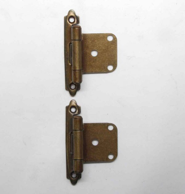 Cabinet & Furniture Hinges - Pair of Face Mount Overlay Brass Cabinet Hinges