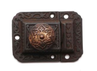 CAST IRON CUPBOARD CABINET LATCH ORNATE VINTAGE REPRODUCTION REPLACEMENT PART