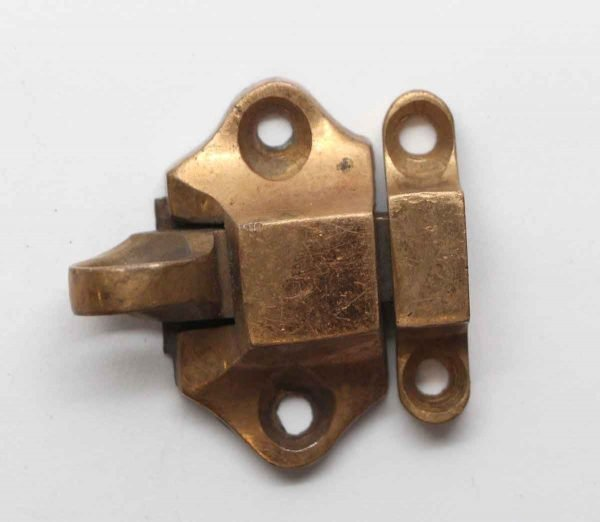 Cabinet & Furniture Latches - Vintage Brass Small Cabinet Latch