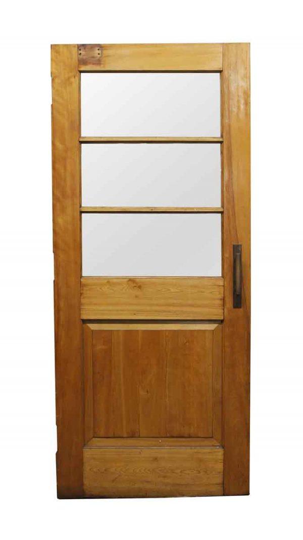 Commercial Doors - Wooden Door with 3 Horizontal Glass Lites 83.75 x 36.25