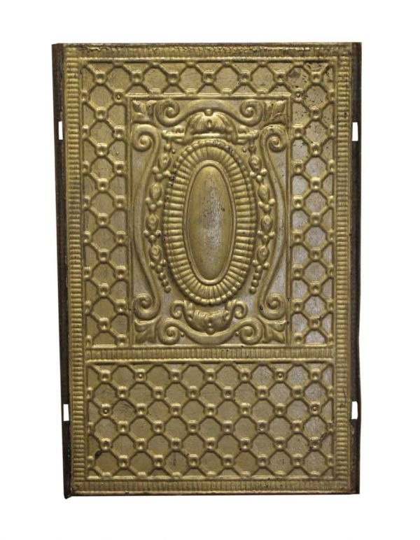 Decorative Metal - Antique Painted Gold Over Iron Grate Cover