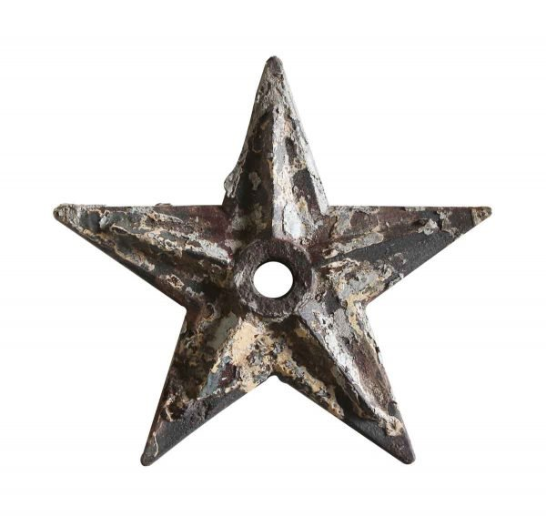 Decorative Metal - Large Cast Iron Huricane Plate Building Star