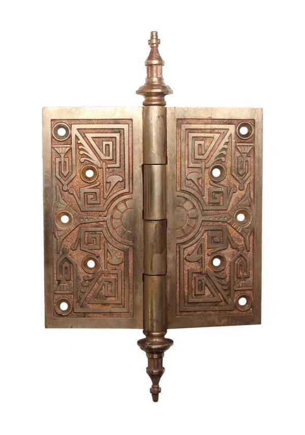 Door Hinges - Aesthetic Brass 6 x 6 Steeple Tip But Door Hinge