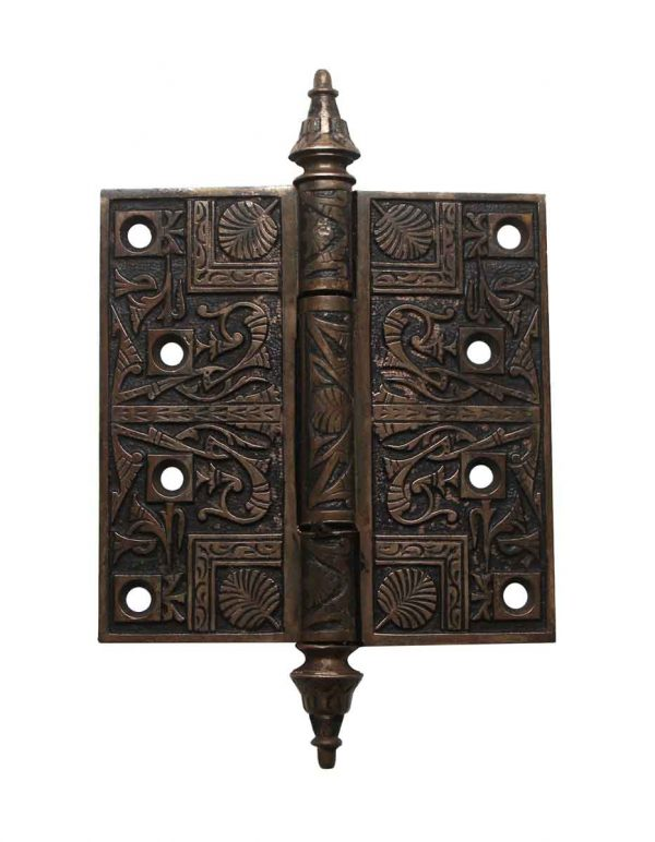 Door Hinges - Brass Aesthetic 4.5 x 4.5 Steeple Tip Butt Door Hinge