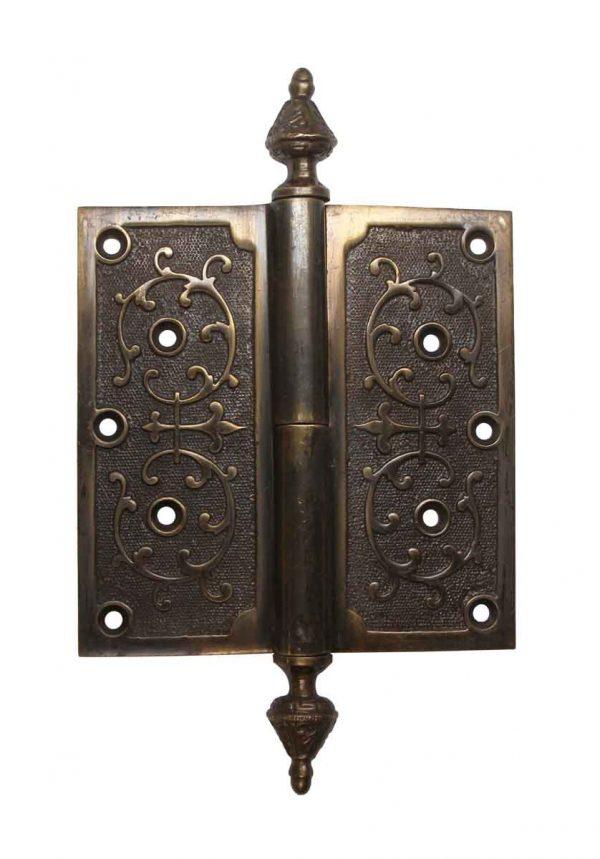 Door Hinges - Brass Victorian 6 x 6 Steeple Tip Butt Door Hinge