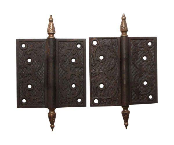 Door Hinges - Cast Iron 4.5 x 4.5 Pair of Butt Door Hinges