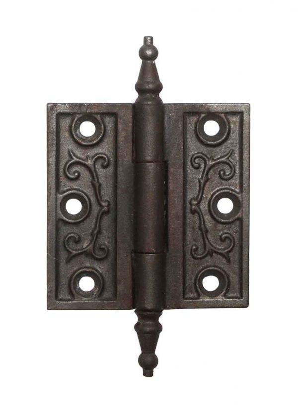 Door Hinges - Iron Victorian 3 x 3 Butt Antique Door Hinge with Steeple Tips