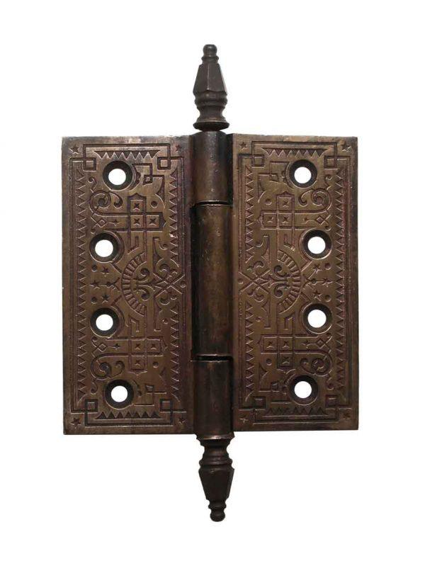 Door Hinges - Steeple Tip Aesthetic Brass 4.5 x 4.5 Butt Door Hinge