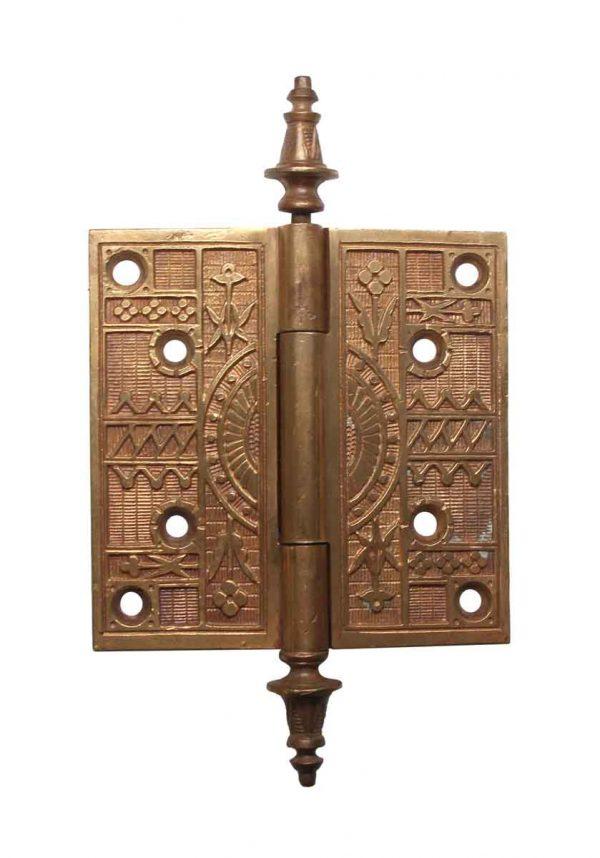 Door Hinges - Steeple Tip Aesthetic Brass 5 x 5 Butt Door Hinge