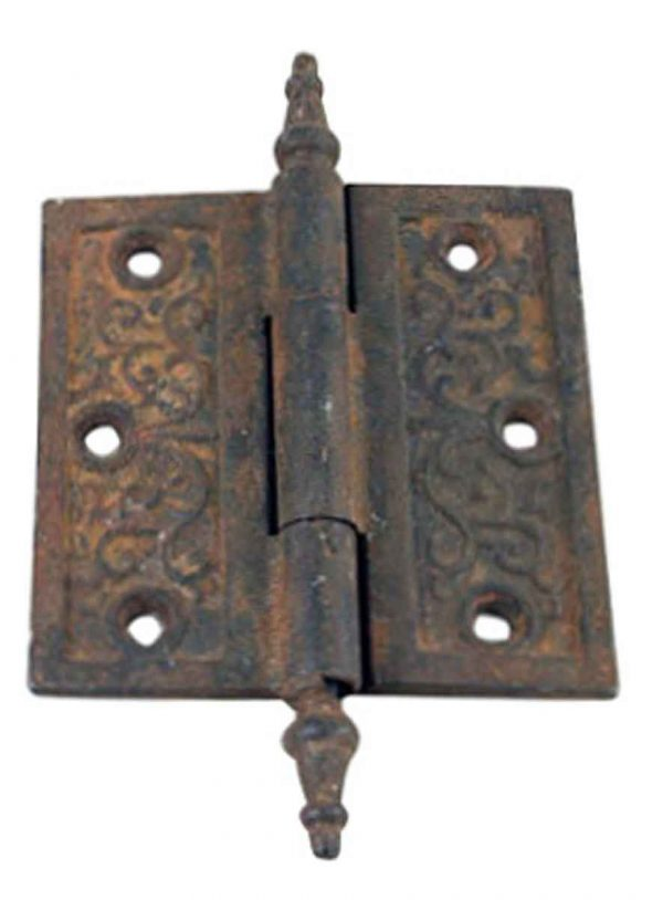 Door Hinges - Victorian 4 x 4 Cast Iron Door Hinge with Steeple Tips
