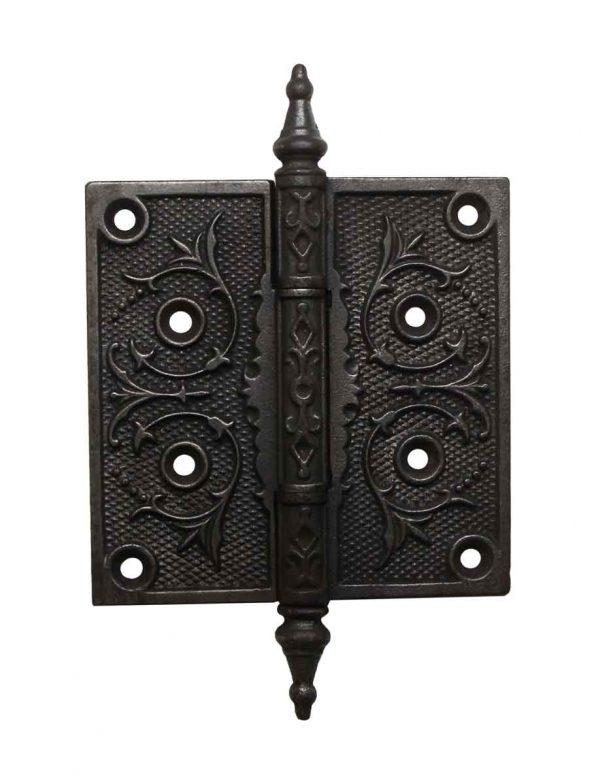 Door Hinges - Victorian 4.5 x 4.5 Cast Iron Steeple Tip Butt Door Hinge