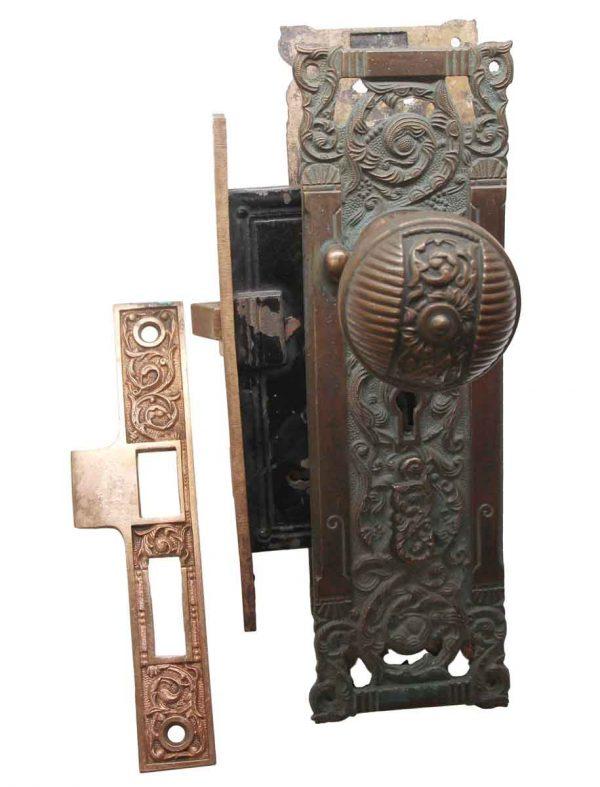 Door Knob Sets - Antique Columbian Brass Door Knob Set