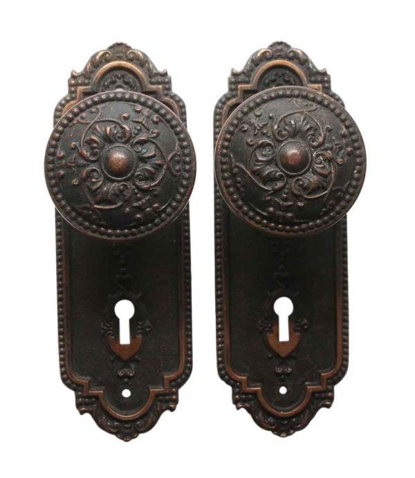 Door Knob Sets - Antique Sargent Bronze BF Door Knob Set