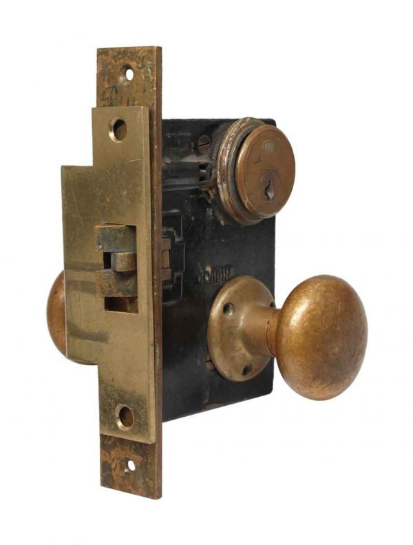 Door Knob Sets - Corbin Lock Set with Brass Door Knobs