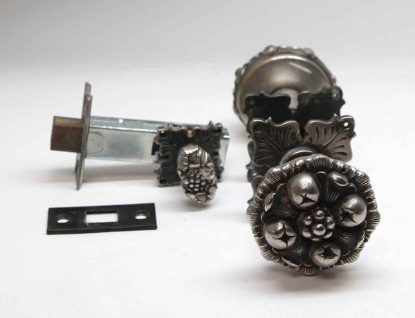 Door Knob Sets - Gothic Nickel Plated Door Knob Set with a Dead Bolt