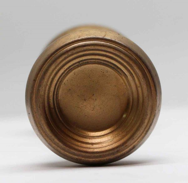 Door Knobs - Pair of Concave Concentric Steel Door Knobs