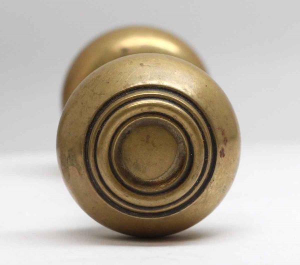 Door Knobs - Pair of Concentric Design Brass Door Knobs